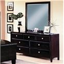 Crown Mark Tomas Contemporary Dresser and Mirror Combo