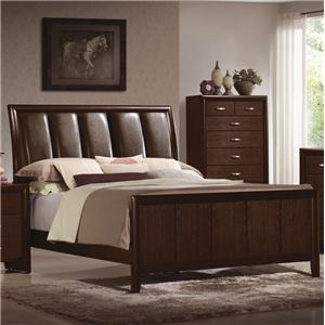 Crown Mark Rivoli King Upholstered Bed