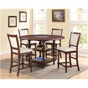 Crown Mark Tremont Counter Height Dining Set