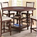 Crown Mark Tremont Counter Height Pub Table - Item Number: 2705T-6060-TOP+LEG+SHLF