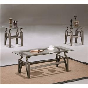 Crown Mark Triad 3 Piece Occasional Table Group