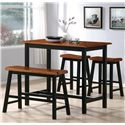Crown Mark Tyler 4 Piece Counter Height Table Set - Item Number: 2729SET