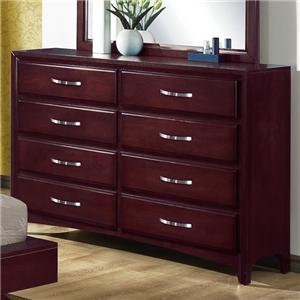 Crown Mark Vera 8 Drawer Dresser