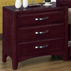 Crown Mark Vera 3 Drawer Night Stand