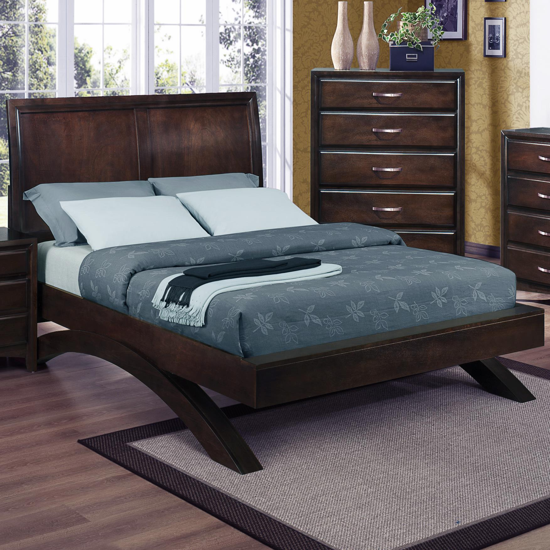 Crown Mark Vera California King Platform Bed - Item Number: B6150-K-BASE-N+K-HB-N+CK-RAIL-N