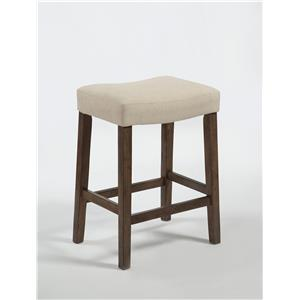 Crown Mark Verona Linen Saddle Chair