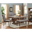 Crown Mark Vesper Dining Upholstered Bench with Nailhead Trim