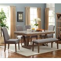 Crown Mark Valerie Table and Chair Set with Bench - Item Number: 1211T-4272+4xS+BENCH
