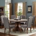 Crown Mark Vesper Dining Dining Room Set - Item Number: 1211T-54-TOP+BASE+6xS
