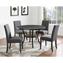 Crown Mark Wallace Five Piece Chair & Table Set - Item Number: 1213DGY-T-48+4xS