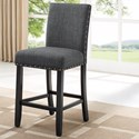 Crown Mark Wallace Counter Height Chair - Item Number: 1713DGY-S-24