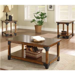 Crown Mark William 3 Pc- Coffee & 2 End Tables