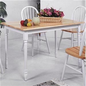 Crown Mark Windsor Solid Slim Rectangular Leg Dining Table