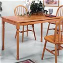 Crown Mark Windsor Solid Slim Rectangular Leg Dining Table - Item Number: 2302L.OAK