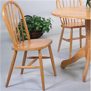 Awesome Crown Mark Windsor Solid Light Oak Dining Side Chair