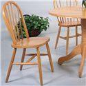 Crown Mark Windsor Solid Dining Side Chair - Item Number: 2303L.OAK