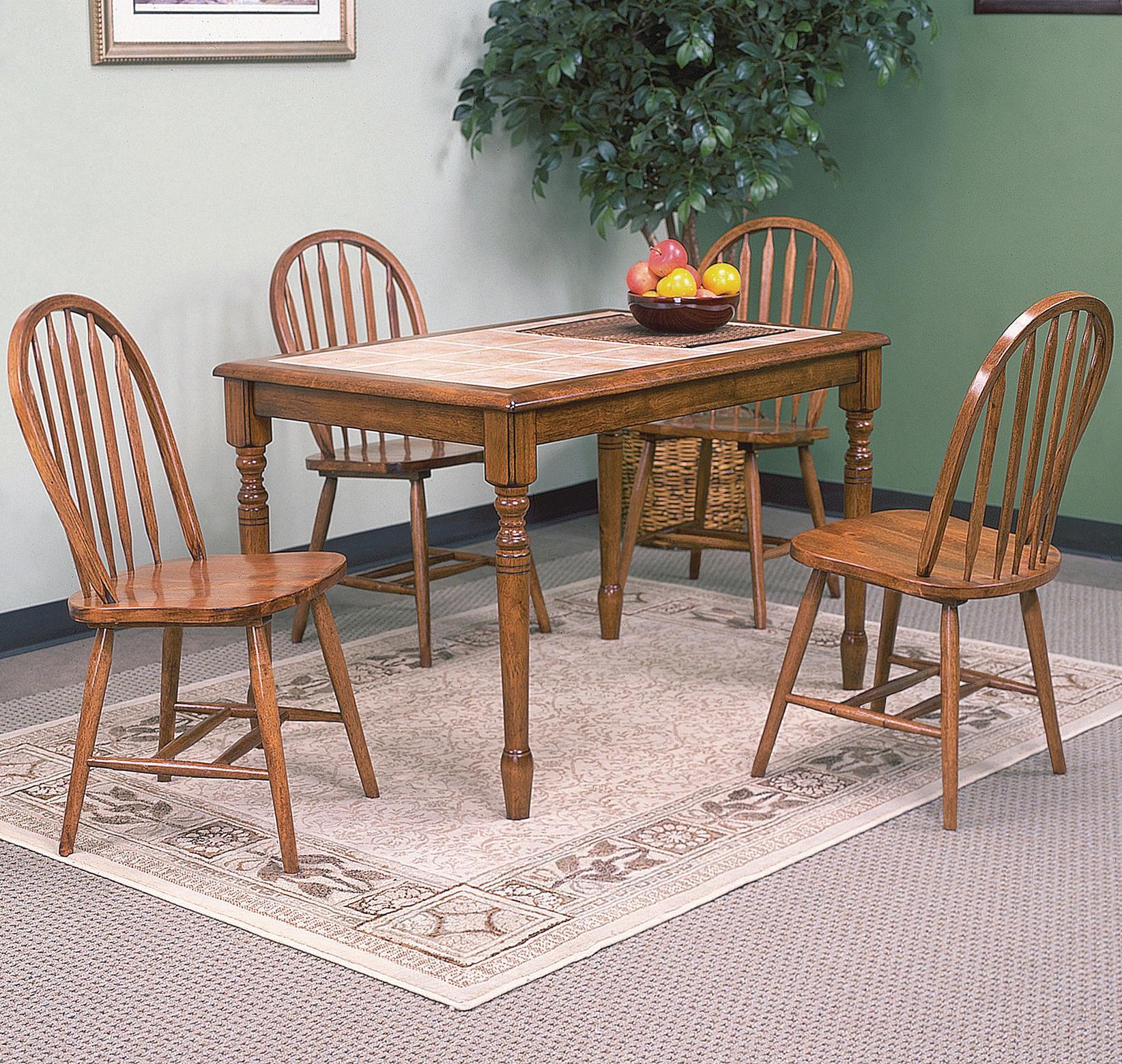 Solid Oak Windsor Chairs ~ Crown mark windsor solid d oak rta dark dining