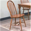 Crown Mark Windsor Solid Dark Oak Dining Side Chair