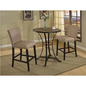 Crown Mark Wyatt Bar Height Dining Set