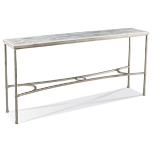 Eclipse Console Table with Onyx Stone Top by CTH Sherrill Occasional