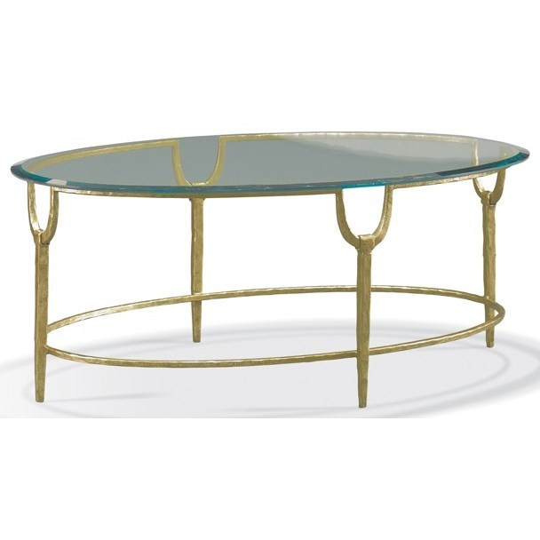 Masterpiece - Trifecta Oval Cocktail Table by CTH Sherrill Occasional at Baer's Furniture