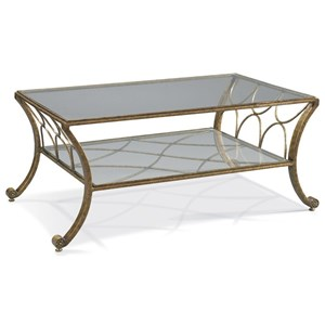 Masterpiece - Fairmont Traditional Cocktail Table with Bowed-Leg Design by CTH Sherrill Occasional