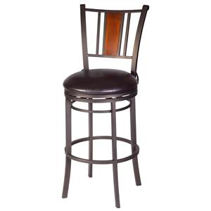Barstools glow 24 swivel metal barstool with leather for Furniture east wenatchee