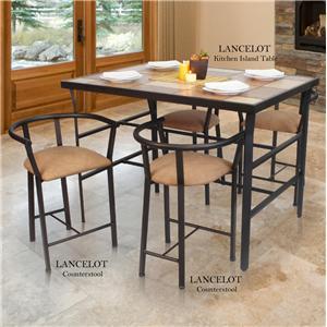 cym furniture lancelot 5 piece kitchen island table set