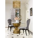 Cynthia Rowley for Hooker Furniture Cynthia Rowley - Curious Shangri-La Gilded Dining Table Base - Glass Top Sold Separately - Glass Top Sold Separately