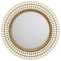 Cynthia Rowley for Hooker Furniture Cynthia Rowley - Curious Bangle Round Mirror - Item Number: 1586-90007A-GLD1