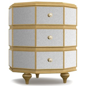 Cynthia Rowley for Hooker Furniture Cynthia Rowley - Curious Bewitch Mirrored Octagonal Nightstand