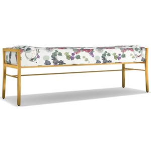 Cynthia Rowley for Hooker Furniture Cynthia Rowley - Curious Fleur de Glee Bench