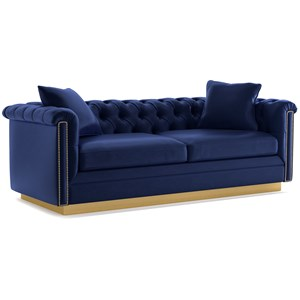 Cynthia Rowley for Hooker Furniture Cynthia Rowley - Curious Upholstery Wallis 2 Cushion Sofa