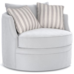 Cynthia Rowley for Hooker Furniture Cynthia Rowley - Pretty Upholstery Carmela Swivel Chair