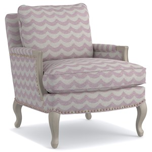 Cynthia Rowley for Hooker Furniture Cynthia Rowley - Pretty Upholstery Worth Exposed Wood Chair