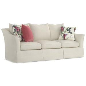 Cynthia Rowley for Hooker Furniture Cynthia Rowley - Pretty Upholstery Barrington 3 over 3 Skirted Sofa
