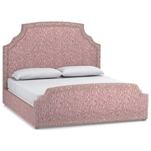 Cynthia Rowley for Hooker Furniture Cynthia Rowley - Pretty Upholstery Cornelia Queen Bed Complete