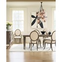 Cynthia Rowley for Hooker Furniture Cynthia Rowley - Pretty Dinner at Eight Dining Table with Two 18-inch leaves