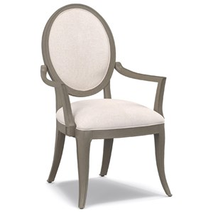 Cynthia Rowley for Hooker Furniture Cynthia Rowley - Pretty Darling Upholstered Oval Back Arm Chair