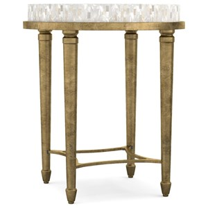 Aura Round Accent Table with Shell Top