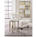 Cynthia Rowley for Hooker Furniture Cynthia Rowley - Pretty Aura Round Accent Table with Shell Top