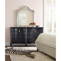 Cynthia Rowley for Hooker Furniture Cynthia Rowley - Pretty Twin Peak Shaped Eight-Drawer Dresser