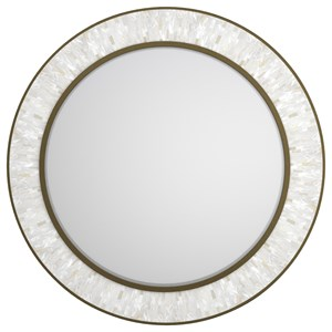 Cynthia Rowley for Hooker Furniture Cynthia Rowley - Pretty Aura Round Shell Accent Mirror