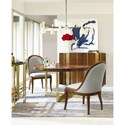 Cynthia Rowley for Hooker Furniture Cynthia Rowley - Sporty Horizon Line Round Dining Table