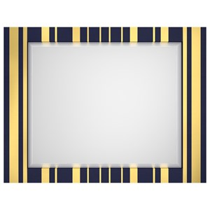 Cynthia Rowley for Hooker Furniture Cynthia Rowley - Sporty Parker Striped Landscape Mirror