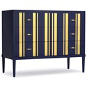 Cynthia Rowley for Hooker Furniture Cynthia Rowley - Sporty Parker Striped Bachelors Chest - Item Number: 1586-90017-BL2