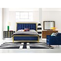 Cynthia Rowley for Hooker Furniture Cynthia Rowley - Sporty Balthazar California King Upholstered Bed - Bed Shown May Not Represent Size Indicated
