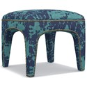 Cynthia Rowley for Hooker Furniture Cynthia Rowley - Sporty Upholstery Lulu Ottoman - Item Number: 6274CR