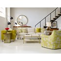 Cynthia Rowley for Hooker Furniture Cynthia Rowley - Sporty Upholstery Rivington 3 over 3 Sofa
