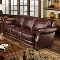 D'Oro Cartwright Traditional Leather Sofa
